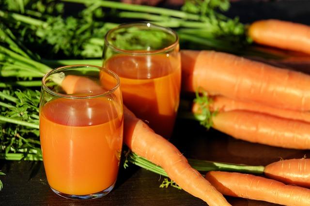 Nước ép cà rốt đẹp da